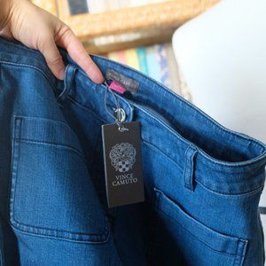 Vince Camuto Jeans - Vince Camuto flared jeans with front patch pockets
